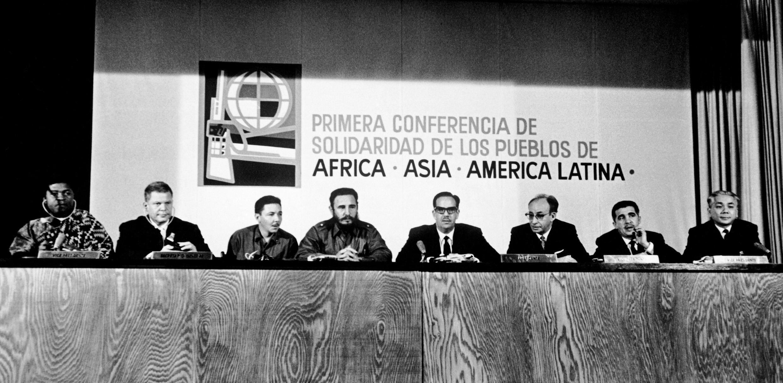 La conférence tricontinentale à La Havane, le 19 janvier 1966.