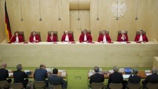 Les juges de la Cour constitutionnelle allemande.
