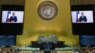 E. Macron discours enregistré pour le 75ème assemblée générale des NU - 22 septembre 2020