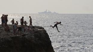 Отдыхающие в Крыму (Севастополь), 8 августа 2014