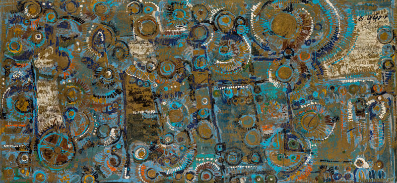 رنگ روغن اثر: مسعود عربشاهی Massoud Arabshahi (Iranian, b. 1935)