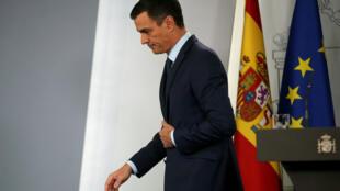 Le chef du gouvernement espagnol Pedro Sanchez, le 26 janvier 2019 à Madrid (image d'illustration).