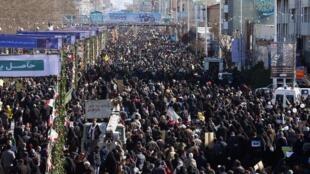 Des milliers d'Iraniens sont descendus dans les rues de Téhéran pour commémorer l'anniversaire de la victoire de la révolution islamique ce mardi 11 février 2020