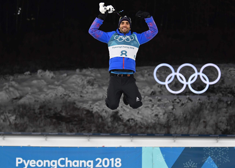 Martin Fourcade a conservé sa médaille d'or olympique en poursuite. Titré en 2014, le biathlète français a remis ça à Pyeongchang.