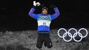 Французский биатлонист Мартен Фуркад завоевал золотую медаль в Южной Корее,18 ферваля 2018 год.