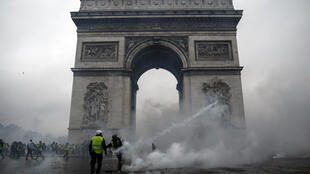 Yellow vest protesters stormed the Arc de Triomphe during a fiery protest on December 1, 2018