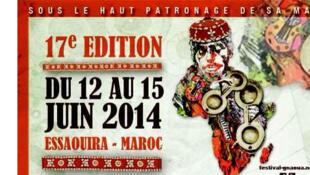 Affiche Festival Gnaoua 2014.