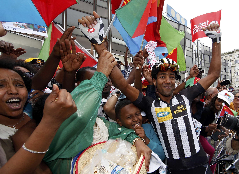 Merhawi Kudus lors de la 8e étape à Pau.