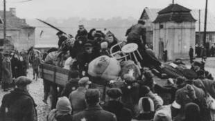 Déportation des juifs du ghetto de Kaunas. Lituanie, années 1940.