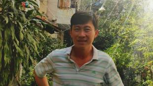 Nhà báo Hoàng Khương, lúc vừa ra tù ngày 21/01/2015.