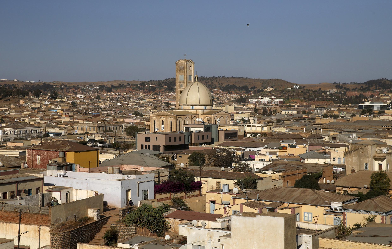 Vue aérienne d'Asmara, la capitale de l'Érythrée