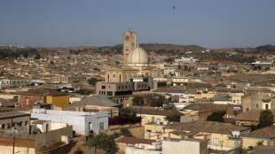 Vue aérienne d'Asmara, la capitale de l'Erythrée