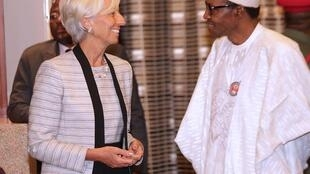 IMF Chief Christine Lagarde and Nigeria President Muhammadu Buhari in Abuja