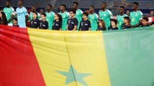 L'équipe du Sénégal avant son match contre le Kenya, le 1er juillet 2019.