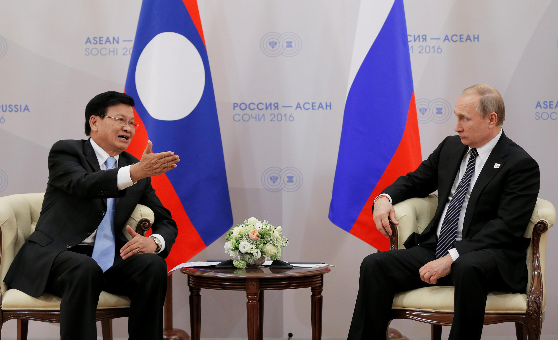 圖為東盟輪值主席國老撾總理會見俄羅斯總統普京