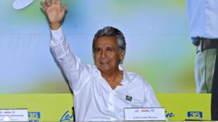 Lenín Moreno, el candidato de Alianza País, el pasado 16 de noviembre de 2016.