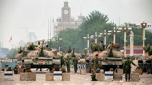Ảnh tư liệu: Quảng trường Thiên An Môn, Bắc Kinh ngày 06/06/1989 sau vụ đàn áp phong trào biểu tình.