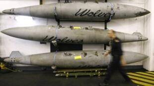 Tên lửa dự trữ trên chiến hạm Ý Giuseppe Garibaldi, tham gia vào chiến dịch của Nato tại Libya, 15/6/2011.