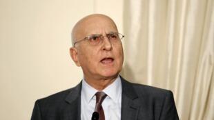 Stavros Dimas (ici le 17 mai 2012) devra attendre le deuxième ou le troisième tour pour être éventuellement élu à la présidence de la République.