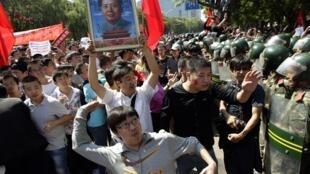 北京今天发生反日示威活动