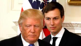 """O presidente americano Donald Trump, denuncia como """"mentiras fabricadas"""" às revelações sobre seu genro, Jared Kushner, que teria tentado estabelecer um canal secreto de comunicação com o Kremlin."""