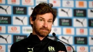 L'entraîneur portugais de l'Olympique de Marseille, André Villas-Boas, en conférence de presse à Marseille, le 15 janvier 2021