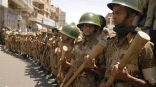 Wanajeshi wa Yemeni wakiwa katika harakati za kulinda amani