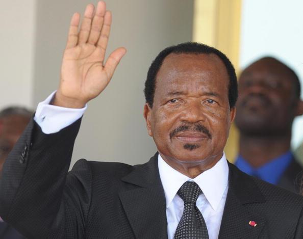 Le président camerounais Paul Biya, à Yaoundé le 21 mars 2009.