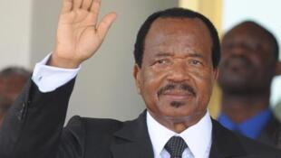 Le président camerounais candidat à sa succession Paul Biya. Ici, à Yaoundé le 21 mars 2009.