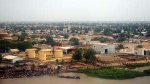 Vue aérienne de la ville de Malakal, au Soudan du Sud, capitale de l'Etat du Nil supérieur, d'où provient la majeur partie de la production pétrolière nationale.