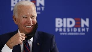 Joe Biden en meeting à Philadelphie, en juin 2020.