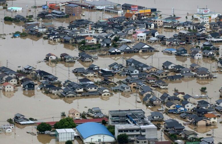 """باران و باد شدید در """"اُکایاما""""، ٨ ژوئیه ٢٠١٨/١٧ تیر ١٣٩۷"""