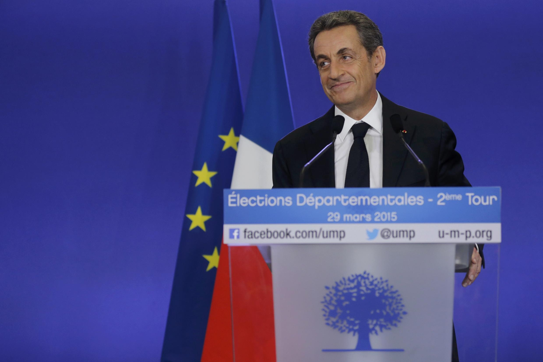 Sarkozy comemora a vitória do seu partido (UMP) nas eleições departamentais
