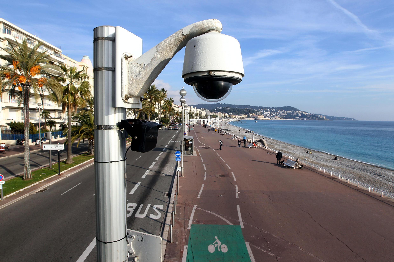 Imagem de uma câmera de segurança da cidade de Nice, no Passeio dos Ingleses, alvo do atentado de 14 de Julho.