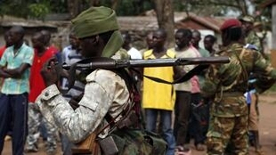 A Chadian soldier in Bangui earlier this month