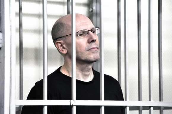 Главный редактор газеты «Новые колеса» Игорь Рудников на заседании суда в Калининграде.