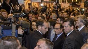Le président Hollande au Salon de l'agriculture samedi 27 février 2016.