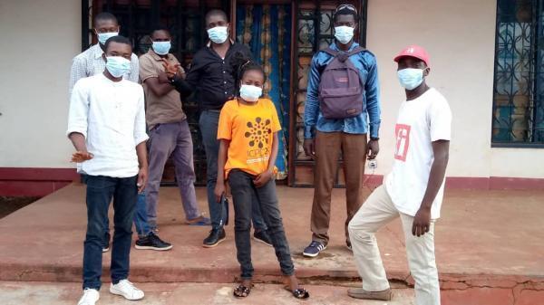 Membres du Club RFI Bangui-Fononon.