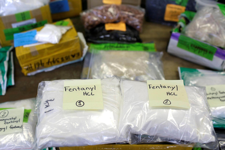 Ảnh minh họa : Ma túy tổng hợp fentanyl tịch thu ở phi trường Chicago, Hoa Kỳ. Ảnh 29/11/2017.