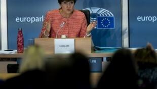 Sylvie Goulard, candidate désignée par la France pour un poste de commissaire, lors de son audition au Parlement européen, le 2 octobre 2019.