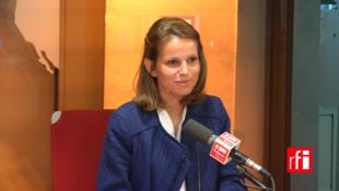 Marie Lebec, dân biểu trẻ đảng Cộng Hòa Tiến Bước, trả lời phỏng vấn RFI.