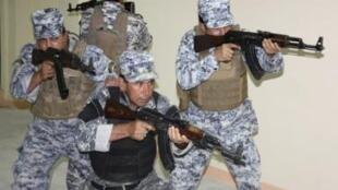 La policía iraquí es a menudo el blanco privilegiado de los atentados terroristas.