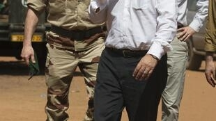 The French defence minister, Jean-Yves Le Drian, on a surprise visit to Mali last week.