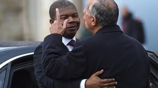 O presidente angolano, João Lourenço, e o presidente português, Marcelo Rebelo de Sousa. 22 de Novembro de 2018. Lisboa.