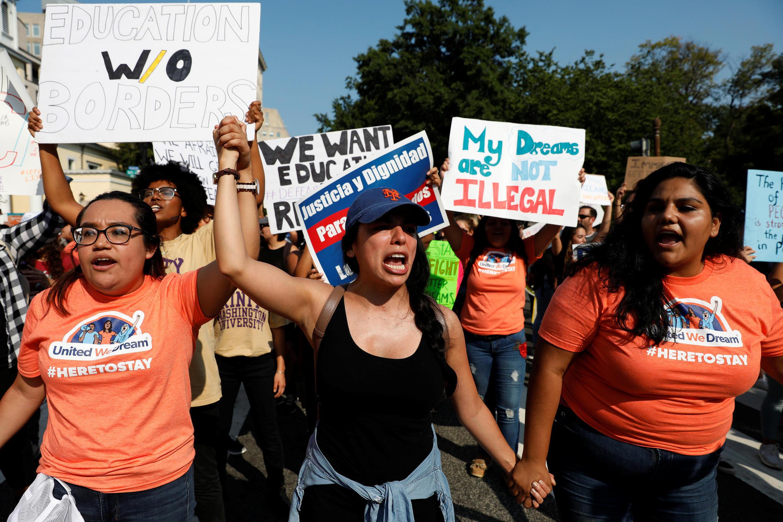 Manifestación de los dreamers contra Trump el 5 de septiembre.