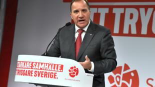 Премьер-министр Швеции и лидер социал-демократов Стефан Лёвен 9 сентября 2018