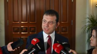 Ekrem Imamoglu, le maire d'Istanbul, le 9 décembre 2019.