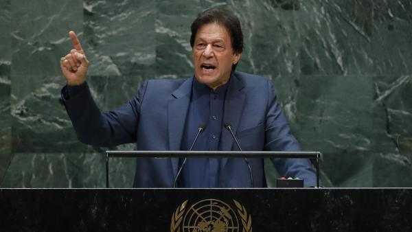 Le Premier ministre pakistanais Imran Khan (ici le 27 septembre à la tribune de l'ONU) a porté la question du Cachemire devant les instances internationales.