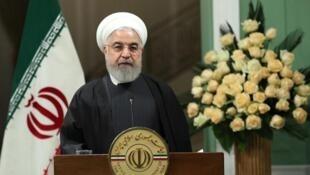 حسن روحانی، رئیس جمهوری اسلامی ایران در روز یکشنبه ٢٢ دی/ ١٢ ژانویه ٢٠٢٠