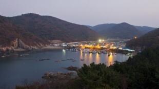 L'île de Baengnyeongdo en Corée du Sud est proche de la ligne de limite du Nord, qui est la délimitation maritime entre le Nord et la Corée du Sud.